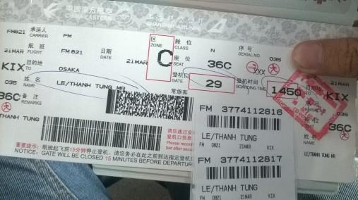 Vé máy bay chuyển sang Osaka